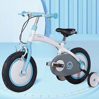 """IQOO 16""""小趣童車 雙煞/輔助輪 - 藍/白"""