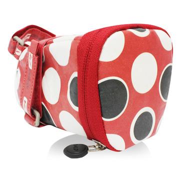 147坐墊袋-點點 紅黑白 M