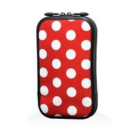 147 充氣式手機包-點點 紅(L)