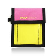147零錢包-撞色-桃/黃