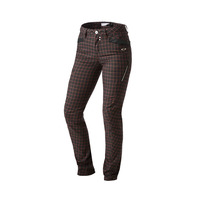 SP15 SKULL SKINNY 3D PANT BLACK PLAID