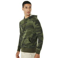 OAKLEY STREET LOGO HOODED CAMO FLEECE CAMO