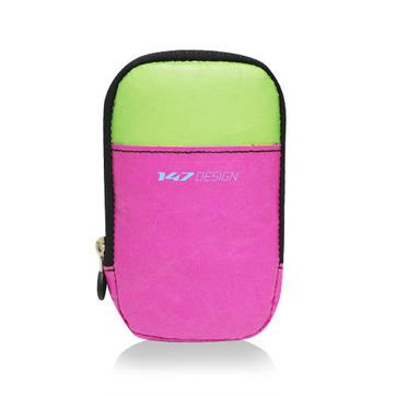147手機袋-撞色-桃/綠