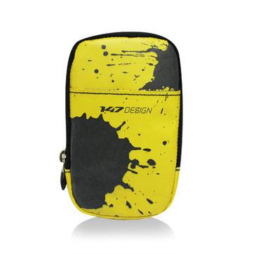 147手機袋-潑墨/黃
